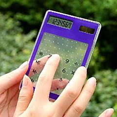 ultratenké transparentní kalkulačka solární dotyková obrazovka (Smíšený Barva)
