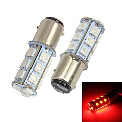 Merdia 1157 18x5050SMD LED Red Light Car Brake / Steering Light (Pair / 12V)