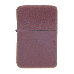 Red Dull Polish Metal Windproof Oil Lighter