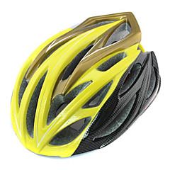 FJQXZ Unisex PC+EPS 24 Vents Yellow Cycling Hlemets