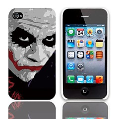 JOKER Design Hard Case with 3-Pack Screen Protectors for iPhone 4/4S
