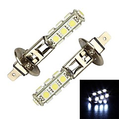 Merdia 4W 156LM H1 13x5050SMD LED White Light Car Dimljus / Pannlampa (par / 12V)