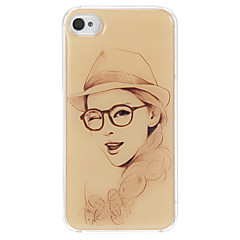 The Girl Blink of An Eye Pattern Epoxy Hard Case for iPhone 4/4S