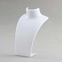 brinco colar de plástico set branco exibição