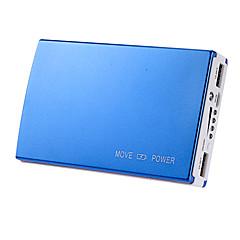 8000mAh multi-utgang eksternt batteri med lommelykt for iphone 6/6 pluss / samsung s4 / s5 / Note2