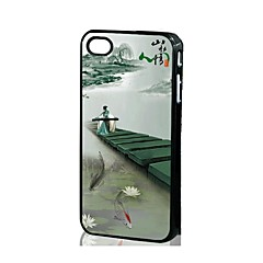 3D Chinese Wind Pattern Silicone Hard Case iPhone 4/4S