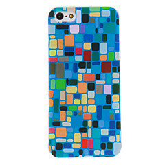 Color Block Pattern PC Hard Case with Transparent Frame for iPhone 5/5S