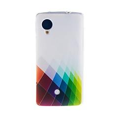 Voor LG hoesje Patroon hoesje Achterkantje hoesje Geometrisch patroon Zacht TPU LG