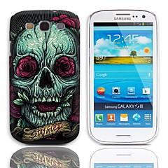 Rose del cranio modello rigido con 3 Paia Protezioni di schermo per Samsung Galaxy S3 I9300