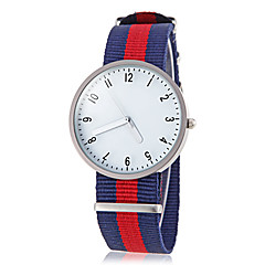 Unisex Casual Style Colorful Fabric Band Quartz Wrist Watch (Assorted Colors)