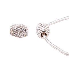 hvid fuld krystal akryl græs DIY perler til halskæde eller armbånd