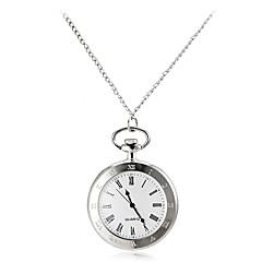 Men's Vintage Roman Number Round Dial Alloy Band Quartz Analog Pocket Watch Cool Watch Unique Watch