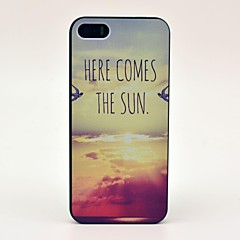Here Comes the Sun Padrão Hard Case para iPhone 5/5S
