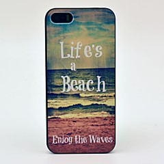 Life's Beach Enjoy the Waves Pattern Hard Case for iPhone 5/5S