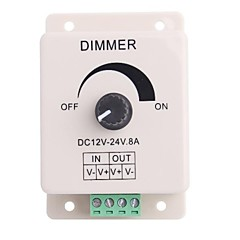Led Knob-Operated Control Dimmer  Adjustable Brightness Controller for LED Light (DC12-24V 8A)