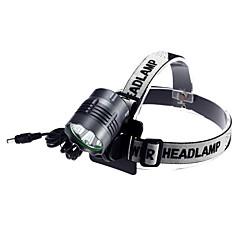 Czołówki LED 3 Tryb 4000 Lumenów Wodoodporne / Akumulator Cree XM-L2 T6 18650Obóz/wycieczka/alpinizm jaskiniowy / Kolarstwo /