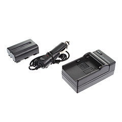ismartdigi-Sony NP-FM500H 1650mah,7.2V Camera Battery+Car charger for SONY A57 A65 A77 A450 A560 A580 A90