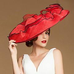 Fashional Len Kobiety Ślub / Przecinanie / Honeymoon Hat z kwiatów (Więcej kolorów)