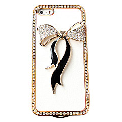 3D Bowknot Decorated Transparent Back Case for iPhone 5/5S