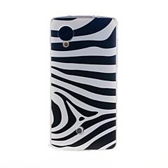 Mert LG tok Minta Case Hátlap Case Vonalak / hullámok Puha TPU LG LG Nexus 5