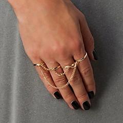 shixin® europeos cuatro aros se combinan con anillos midi cadena de las mujeres (plata, oro, negro) (1 pc)