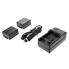 파나소닉 DMC-G1/GH1/GF1/G10/G2에 대한 ismartdigi - 파나 BLB13E (2PCS) 1300MAH, 7.2V의 카메라 배터리 + 차량용 충전기