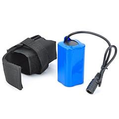 4.2V 4400mAh 4 x 18650 Li-ion Battery Pack para o Farol de bicicleta