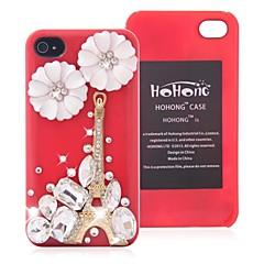 HOHONG (TM) Bling Pumpkins Flower Tower Case iPhone 4 / 4S