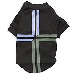 Koty / Psy T-shirt Black Ubrania dla psów Wiosna/jesień Flagi