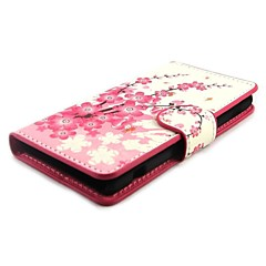 Plum Blossom Wallet PU Læder med Stand Case Cover til Sony Xperia Z1 mini Compact D5503