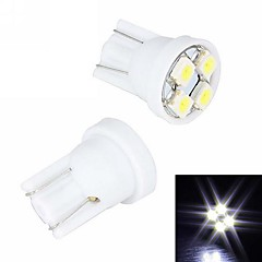 Merdia 4W 110LM T10 4x3528SMD LED White Light Rekisterikilpi Light / Instrument Lamppu (2 PCS/12V)