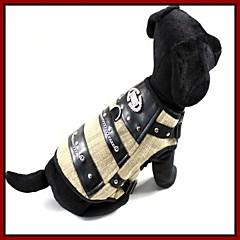 Perros / Gatos Camiseta Beige Primavera/Otoño Cristal/Strass