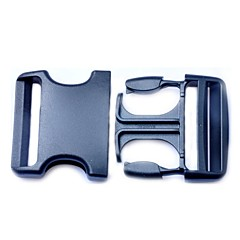 Luggage Strap Belt Clip Plastic Side Release Buckles 50mm - Black  (1piece pack)