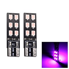 MerdiaT10 3.5W 180LM 12x2835SMD LED Pink Light Clearance Lamp / Instrument Lamp (Pair/12V)