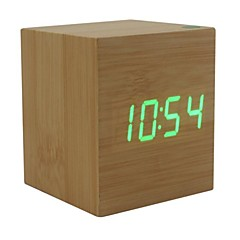 Shibaojia ® LED Clock Wooden Clock ljudkontroll fasionable Design