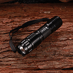 G10 CREE XP E R5 1-Mode 350Lumen White LED Flashlight with Strap(1x14500/1xAA)