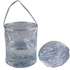 Εξωτερική Σπορ Camping Πτυσσόμενα PVC Water Bucket - Transparent (10L)