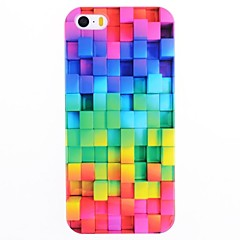 Värikäs ruutukaava IMD Back Case for iPhone 5/5S