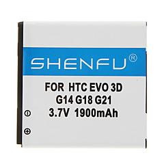 HTC EVO 3D G14 G18 G21에 대한 SHENFU 1900mAh를 핸드폰 배터리