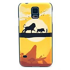 Cross Singleplank Bridge Lion Pattern Hard tapauksessa kattaa Samsung Galaxy S5 I9600
