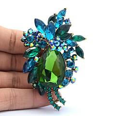 7.8cm Rhinestone og Alloy blomst broche pin for Kvinder Smykker (flere farver)