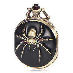 Menns Spider Pattern Bronze Alloy Quartz lommeur