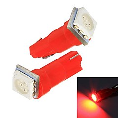 Merdia 0.25W 14lm T5 1x5050SMD LED Red Light Car Instrument / License Plate Lamp(12V /Pair)