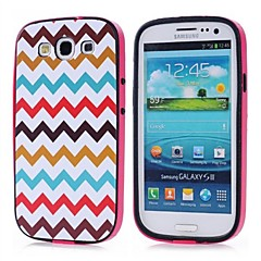Färg vågmönster TPU + PC 2-in-1 Hard Case Cover för Samsung Galaxy S3 I9300