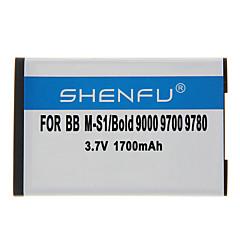 Shenfu 1700mAh batteria del cellulare per BlackBerry M-S1/Bold 9000 9700 9780