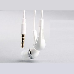 Quality Sound Ivory 3,5 mm In-ear Volumkontroll Earphone Headset for Samsung S2/S3/S4