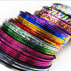 24PCS mixs Kolor Pasy Linia Tape Taśma Stripe paznokci Nail Art Decoration Sticker