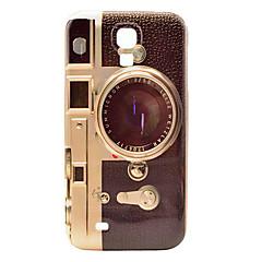 Retro Camera Mønster Plastic Protective bag cover til Samsung Galaxy S4 I9500