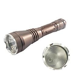 Hunterseyes ™ S153-2-14-1 3-läge Cree XP-E R2 LED ficklampa med klipp (250ml, 1x18650) Bruna