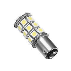 Merdia 1157 5W 40lm 27x5050SMD LED White Light for Car Steering /Brake /Tail Light (24V / A Pair)